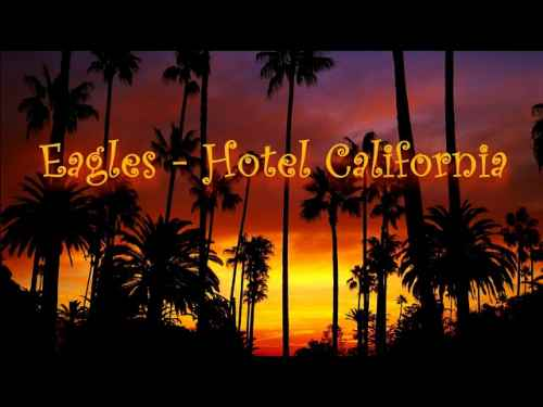 Photo of Hotel California Guitar Chords and Lyrics  By  Eagles