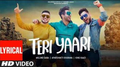 Photo of Teri Yaari Lyrics in English And hindi | Millind Gaba | Aparshakti Khurana